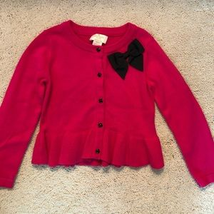 Kate Spade pink and black button up sweater.